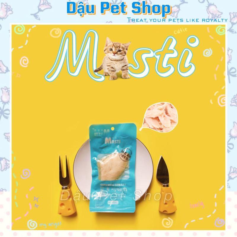 Ức gà hấp Masti ăn liền cho chó mèo 40G