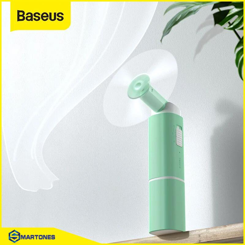 Quạt cầm tay Baseus Square Portable Folding 20000mAh lên đến 13h sử dụng, thiết kế gập gọn gàng tiện lợi