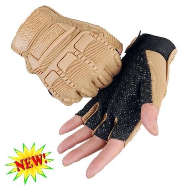 Găng tay, bao tay nam cụt ngón lái xe , tập gym , du lịch phượt bảo vệ mu bàn tay và tăng độ bám Mechanix Mpact