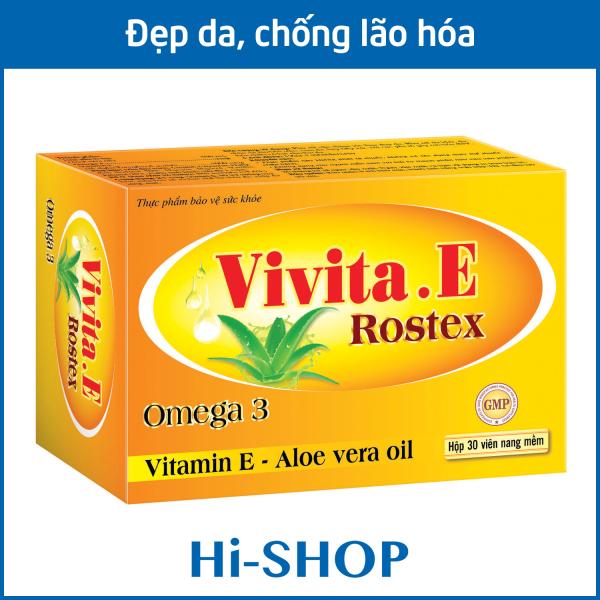 Viên uống đẹp da Vitamin E 4000mcg, Omega 3 và tinh dầu lô hội làm đẹp da, chống lão hóa, ngừa nếp nhăn - Hộp 30 viên dùng 1 tháng giá rẻ