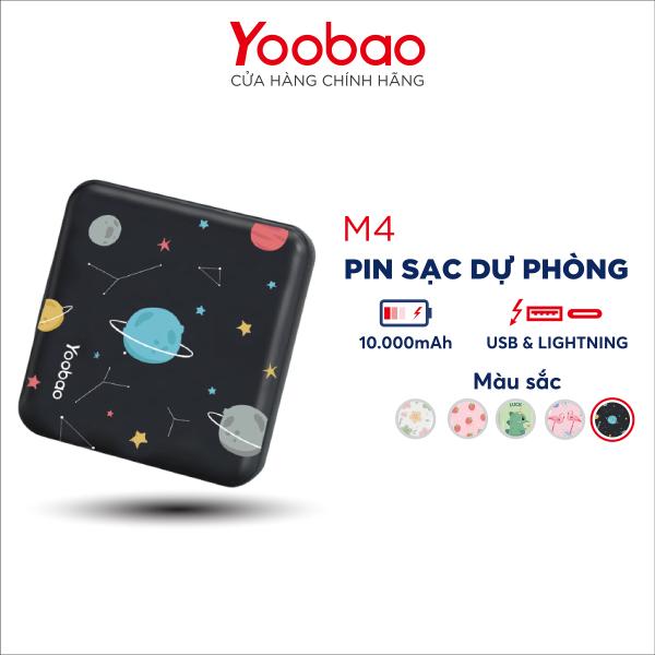 Pin sạc dự phòng Yoobao M4 mini 10000mAh Pin Li-Polymer 2 đầu vào 2 đầu ra cho điện thoại máy tính bảng.... Hãng phân phối chính thức