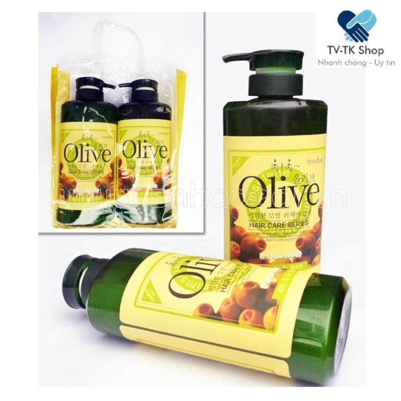 Bộ Đôi Dầu Gội Và Dầu Xả Olive (Mẫu mới)