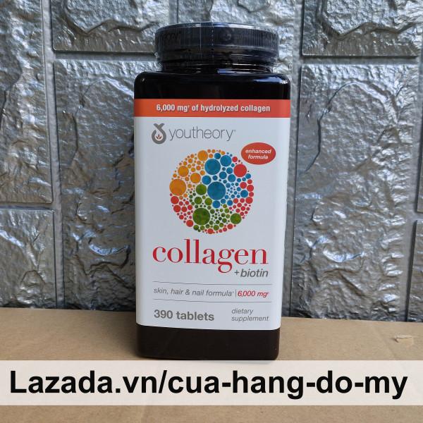 Viên Uống Collagen Youtheory collagen + biotin Advanced Formula 390 Viên -   Youtheory collagen plus  biotin Sản phẩm được rất nhiều người tin tưởng sử dụng giá rẻ