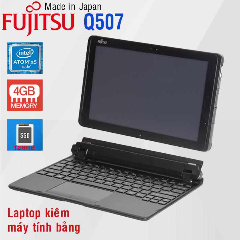[Trả góp 0%]Laptop 2 trong 1 kiêm máy tính bảng Fujitsu Arrows Q507 Atom X5 4gb Ram 128gb SSD 10.3inch sim 4G có bàn phím
