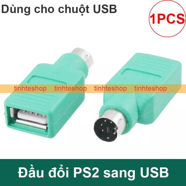 Bảng giá Đầu đổi PS2 đực ra USB cái - Đầu cắm cổng tròn PS2 ra USB dùng chuột USB trên PC cổng PS2 (1 chiếc) Phong Vũ