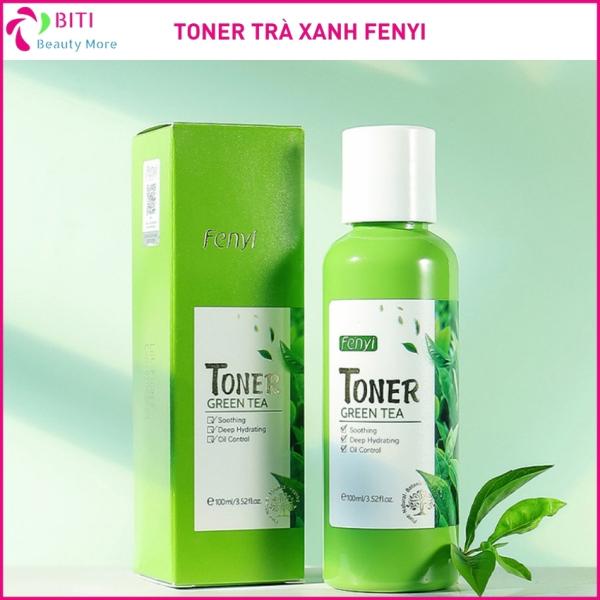 Fenyi Toner trà xanh giúp dưỡng ẩm kiểm soát dầu trên da và dưỡng da giảm mụn se khít lỗ chân lông với chiết xuất từ trà xanh 100ml - Biti Shop