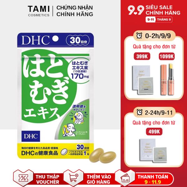 Viên uống trắng da DHC Nhật Bản thực phẩm chức năng giúp da mềm mịn, giảm thâm, tăng cường đề kháng da có vitamin E gói 30 ngày TA-DHC-ADL30