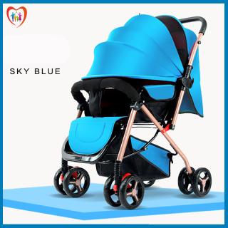 Xe nôi - xe đẩy em bé 2 chiều phiên bản cao cấp nhiều tư thế nằm ngồi, chất liệu thoáng mát, bánh xe có giảm sóc, khóa đai an toàn, có thể gấp gọn - BẢO HÀNH 2 NĂM, ĐỔI MỚI 1-1 TRONG 7 NGÀY NẾU CÓ LỖI thumbnail
