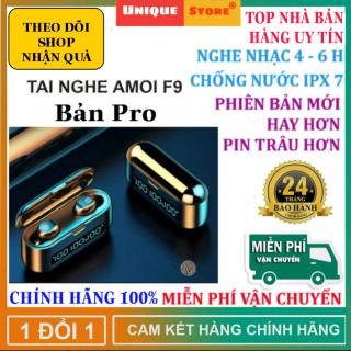 [ Xả Hàng, Nhiều Phiên Bản ] Tai Nghe Bluetooth Amoi F9 Pro Bản Quốc Tế Cảm Ứng Dock Sạc 2500mAh, Âm Thanh Siêu Bass - Tai Nghe Bluetooth Không Dây Amoi F9 pro - Tai nghe buetooth Amoi F9 - Tai nghe bluetooth hay hơn i7s,i9s, i11s, i12 thumbnail