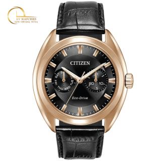 Đồng hồ Nam Citizen BU4013-07H, mặt đen, dây da, kính cứng - Máy chạy năng lượng ánh sáng thumbnail