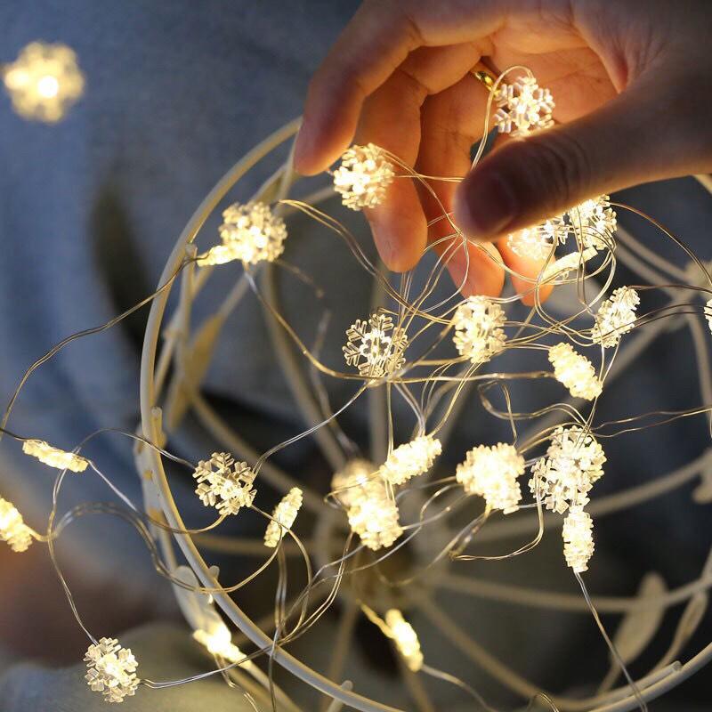 Bảng giá [Tặng Pin] Dây đèn led 30 bóng dài 3m hình Hoa Tuyết trang trí giáng sinh noel phòng ngủ GIVASOLAR-ML3