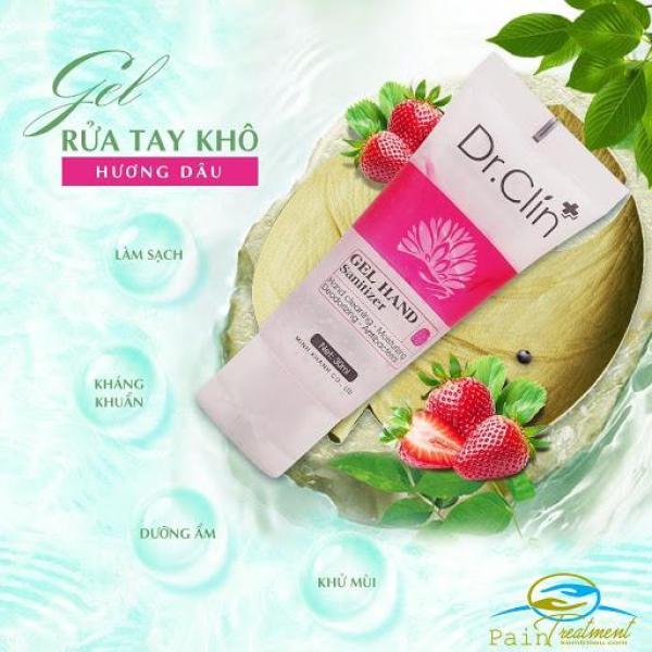Gel rửa tay khô kháng khuẩn, dưỡng ẩm, khử mùi 30ml (hương dâu) cao cấp