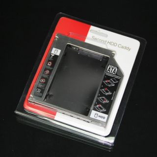 Caddy Bay mỏng 9.5mm chuẩn SATA 3 lắp HDD SSD thay vào ổ DVD trên laptop (bạc) thumbnail