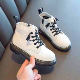 Bé Gái Dr. Martens 2020 Năm Mẫu Mới Mùa Thu Đông Trai Bốt Ngắn Mịn Hơn Giữ Ấm Cho Trẻ Em Bốt Boot Đi Tuyết Bông thumbnail
