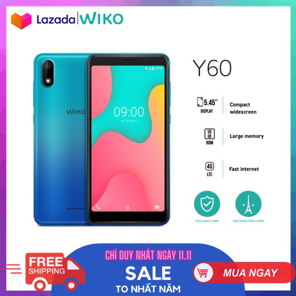 Điện thoại Wiko Y60 - Ram 1GB, Rom 16GB, Pin 2500 mAh, Màn hình 5.45, Camera sau 5.0 MP, Camera trước 5.0 MP - Hàng chính hãng