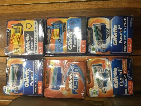 Hộp 4 lưỡi dao cạo râu Gillette Fusion Proglide Nhật bản