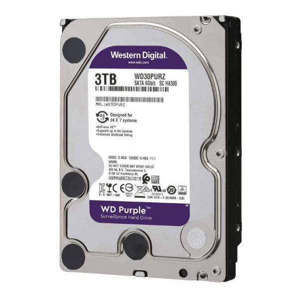Bảng giá Ổ cứng HDD WD TÍM 250GB 500GB 1TB 3TB chuyên dụng cho đầu ghi hình camera hoặc máy tính PC Phong Vũ