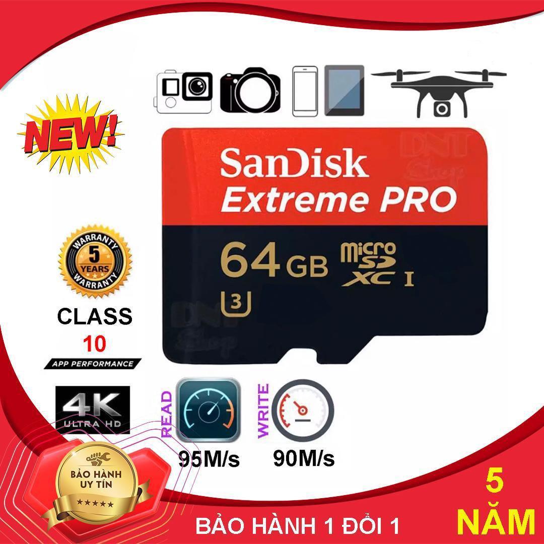Mã Khuyến Mại Thẻ Nhớ MicroSDHC Sandisk Extreme PRO 32GB-64GB U3 Class 10 UHS-I 95MB/s