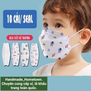 Khẩu trang y tế cho bé, trẻ em 4D KF94 chuẩn Hàn Quốc, 4 lớp ngăn chặn vi khuẩn 99,45% hàng Công ty (Combo 20c, 2 bịch) thumbnail