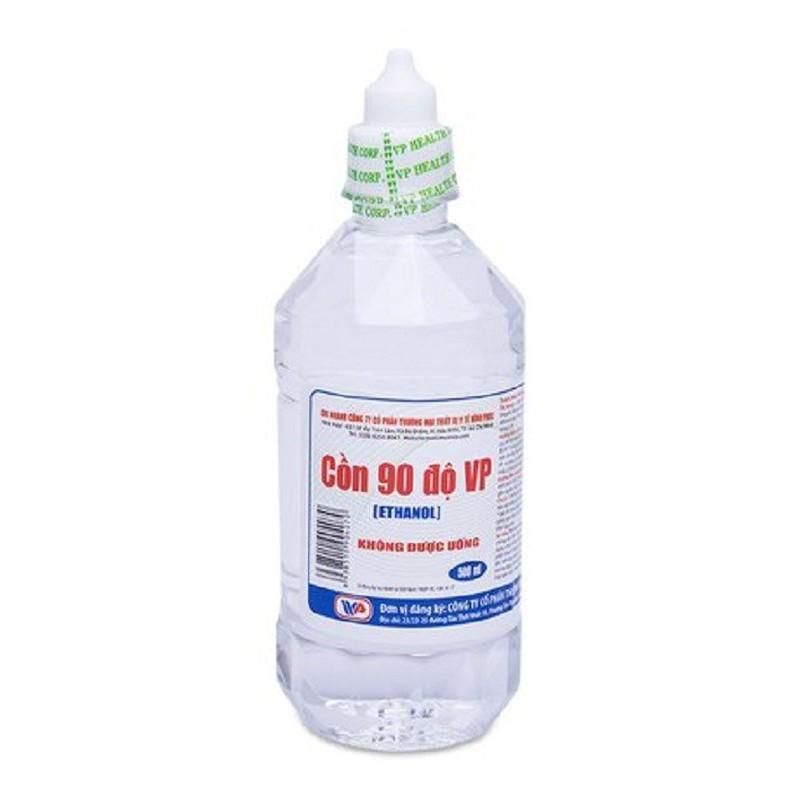 Nước rửa tay khô dung dịch cồn 90 độ 500ml x 6 chai nước rửa tay diệt khuẩn dùng cho cả gia đình