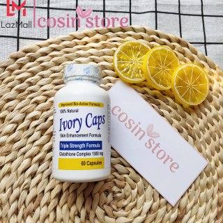 Viên uống Ivory Caps Glutathione Skin Enhancement Formula 60 viên hỗ trợ trắng da giảm nám, tàn nhang Triple Strength Formula Glutathione Complex 1500 mg 2