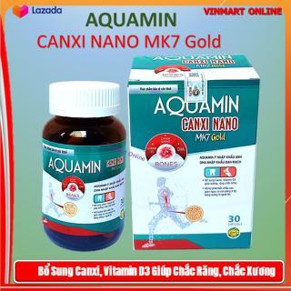 Viên Uống Tăng Chiều Cao Aquamin Canxi Nano MK7 Gold Giúp phát triển chiều cao ở trẻ, giảm loãng xương ở người lớn- thành phần Aquamin 400mg Nhập khẩu Anh, DHA nhập khẩu Đan Mạch.Hộp 30 viên thumbnail