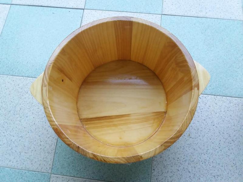 Chậu gỗ thông ngâm chân không hạt cao cấp