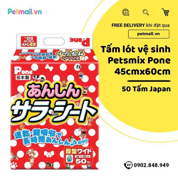 Tấm lót vệ sinh PetsMix Pone 45cm x 60cm - 50 tấm Japan