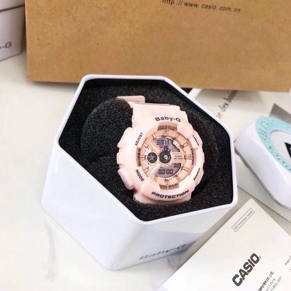 Nơi bán Đồng hồ Baby girl kiểu dáng thể thao màu hồng iu thương Full box dành cho Nữ.