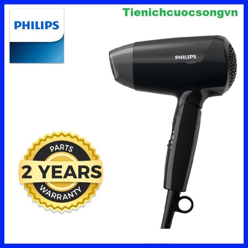 Máy sấy tóc philips BHC010/10, 1200W, 3 chế độ sấy tóc được chọn sẵn đáp ứng các nhu cầu khác nhau, tay cầm có thể gập lại để tiện cho việc mang theo, cài đặt nhiệt độ ThermoProtect