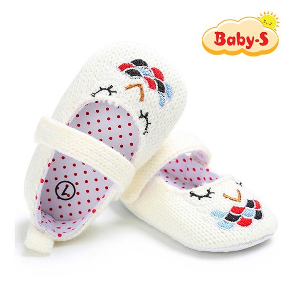 Giày tập đi cho bé gái từ 0 – 18 tháng tuổi chất vải mềm mịn êm chân an toàn cho làn da nhạy cảm của bé đi hoạ tiết hình cú đơn giản đáng yêu Baby-S – STD9 giá rẻ