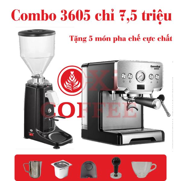 Bảng giá Combo máy pha cafe CRM Gemilai 3605 Điện máy Pico