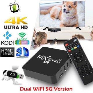 Thiết bị chuyển đổi TV thường thành SMART TIVI BOX MXQ PRO 5G TV ANDROID BOX 4K RAM 2G+16G thumbnail