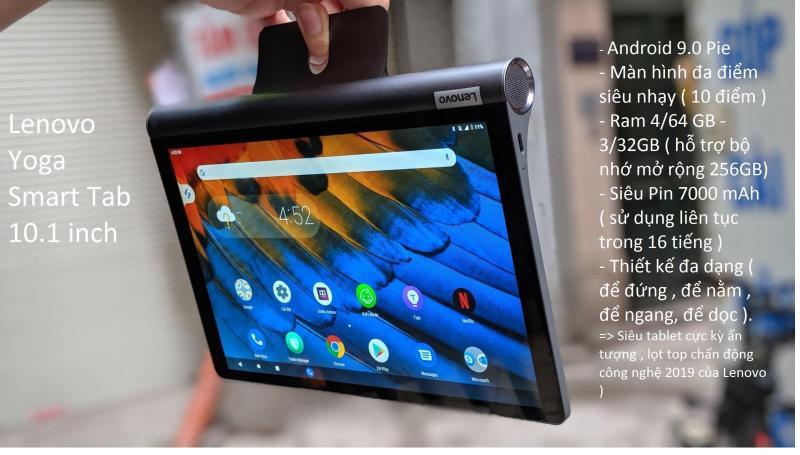Đẳng cấp  Máy tính bảng  : Lenovo Yoga Smart Tab Giá rẻ Tại Zinmobile Hà Nội