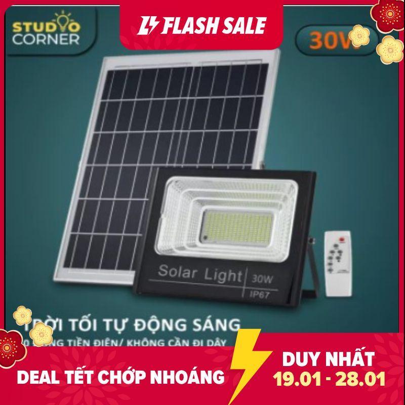 Đèn pha led Năng Lượng Mặt Trời công suất 20W-30W-60W-100W-200W Ánh sáng trắng Có điều khiển từ xa tiện lợi và thông minh Thân Vỏ Nhôm Tiêu chuẩn chống nước và chống bụi IP67-HL168