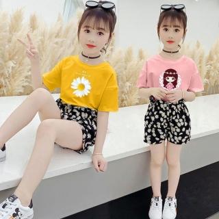 Set bộ quần áo trẻ em mùa hè mẫu Hoa cúc, Công chúa, Tom Jerry dành cho bé gái 16-45kg thumbnail