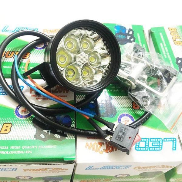 Đèn trợ sáng L6 ngắn hỗ trợ thêm ánh sáng cho xe máy khi đi đường ban đêm, có thể gắn vào chóa pha, phuộc trước, gắn vào chân gương , BẢO HÀNH 3 THÁNG