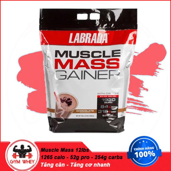 Sữa Tăng Cân Dành Cho Người Gầy LABRADA MUSCLE MASS 12 Lbs (5.4kg) cao cấp