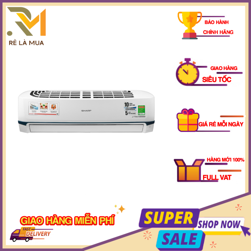 Bảng giá Máy lạnh Sharp Inverter 1 HP AH-X9XEW - Công nghệ J-Tech Inverter, công nghệ làm lạnh nhanh Super Jet, Lưới bụi polypropylene