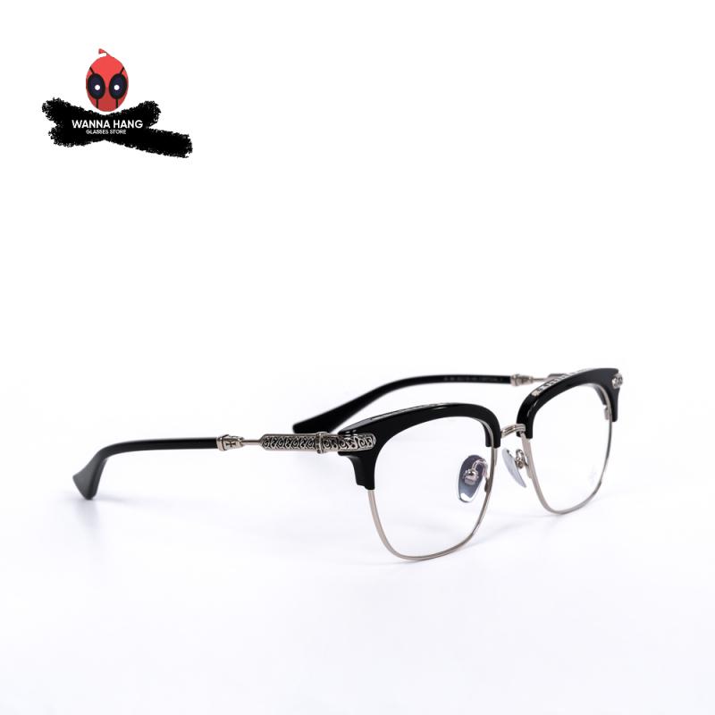 Giá bán Gọng kính cận Titan cao cấp Chrome Hearts Vertical (CH-06) hot trend phong cách cá tính độc lạ chống han gỉ - Wanna Hang bảo hành 6 tháng