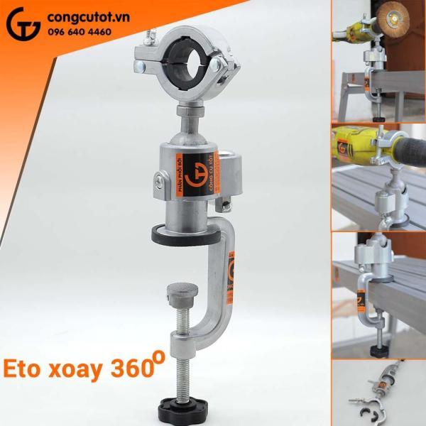 Eto mini kẹp bàn xoay 360 độ cho máy cắt, máy mài, máy khoan