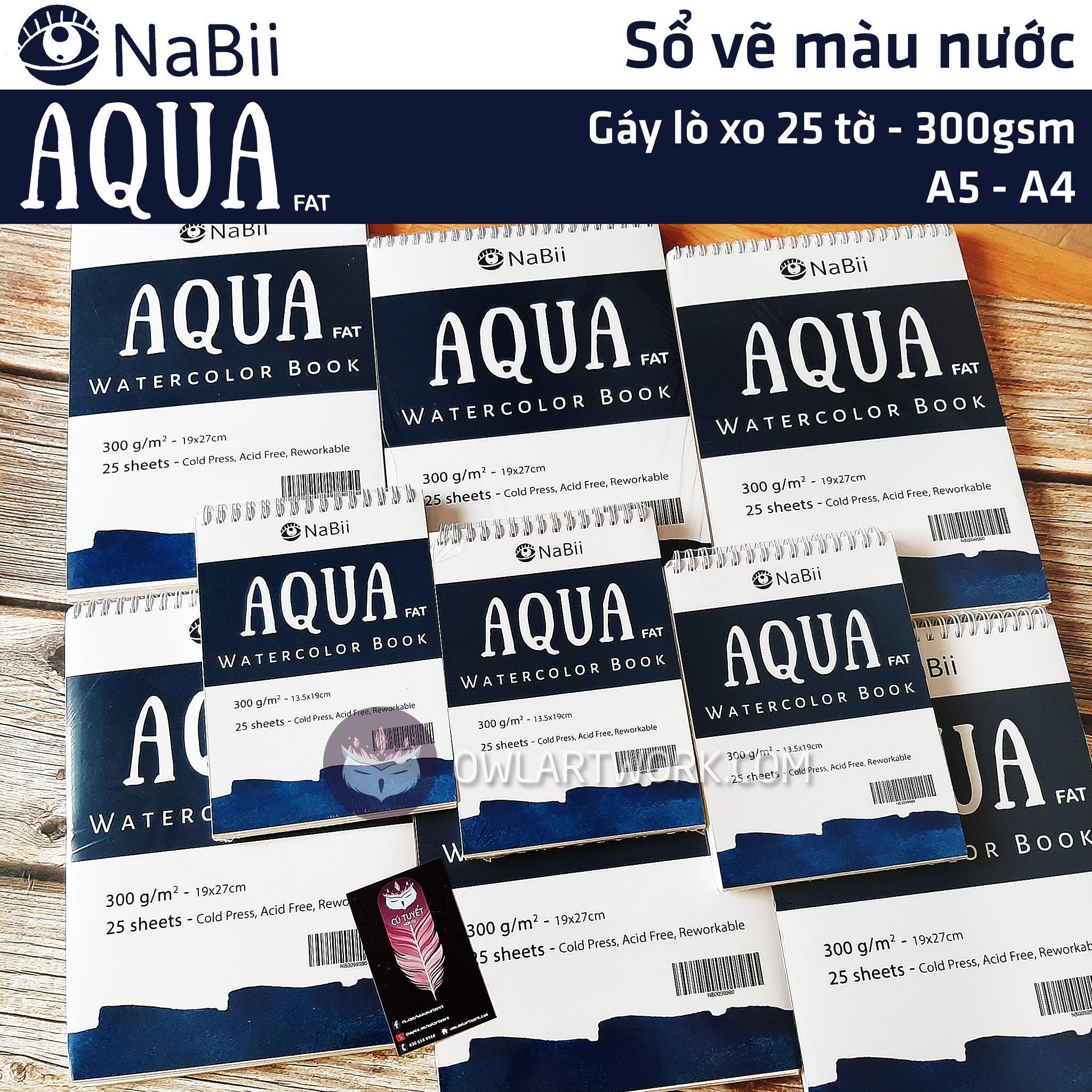 Mua Sổ giấy vẽ màu nước NaBii Aqua Fat 300gsm 25 tờ