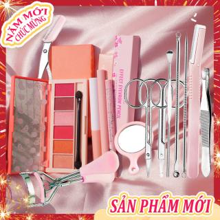 [HCM][Peachy Sis Shop] Set 4 món trang điểm dành cho mắt mày +1 Bộ dụng cụ tỉa mắt 10 món thumbnail
