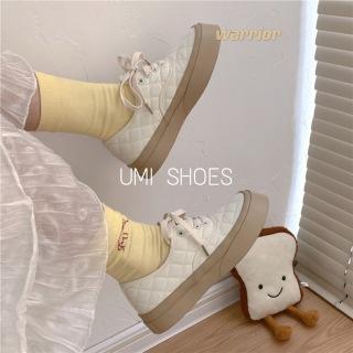 2 MÀU HOT 2021 Giày thể thao nữ Ulzzang CAMEL vải khâu caro đế bằng bánh mì basic độn đế 4cm giày bata mới hot phong cách hàn quốc đẹp cá tính đẹp thumbnail