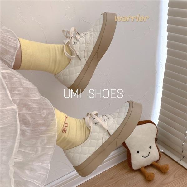 2 MÀU HOT 2021 Giày thể thao nữ Ulzzang CAMEL vải khâu caro đế bằng bánh mì basic độn đế 4cm giày bata mới hot phong cách hàn quốc đẹp cá tính đẹp giá rẻ