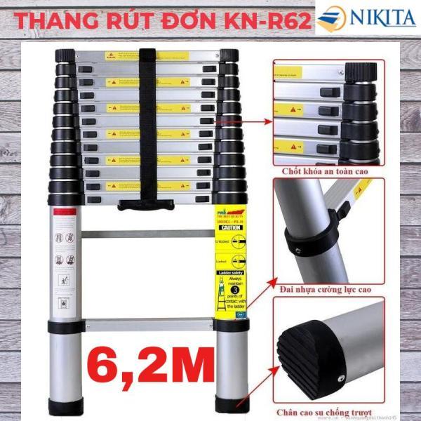Thang nhôm rút đơn 6,2m Nikita Nhật Bản KN-R62