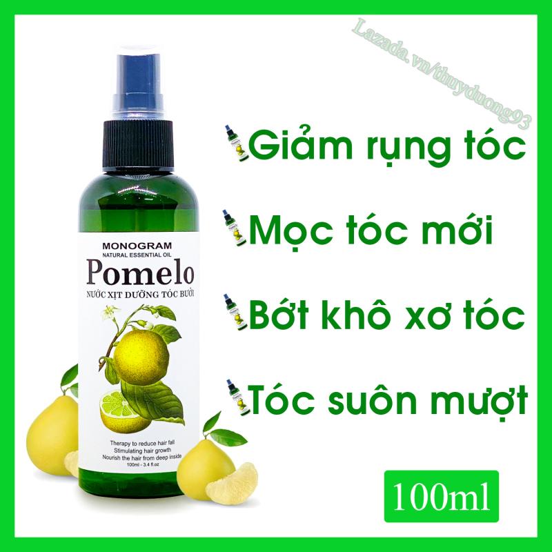 Nước xịt dưỡng tóc tinh dầu bưởi Pomelo 100ml giúp giảm gãy rụng, nuôi dưỡng tóc từ sâu bên trong cho bạn tóc dài và dài hơn nhập khẩu