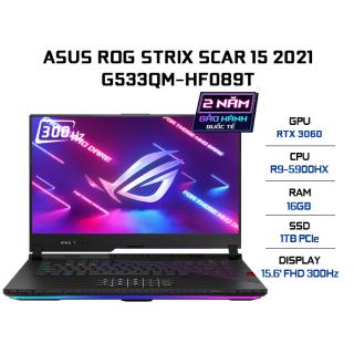 Laptop ASUS ROG Strix SCAR 15 G533QM-HF089T R9-5900HX 16GB 1TB VGA RTX 3060 6GB 15.6 FHD 300Hz Win 10 thumbnail