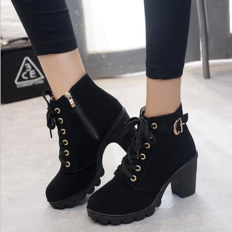 Giày cao gót nữ 7p thời trang có khóa kéo - Chuẩn hình 100% giá rẻ