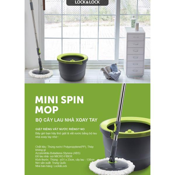 Bộ Cây Lau Nhà Xoay Tay Mini Ettom Lock&Lock lau cực sạch, chất lượng bền bỉ, dễ dàng di chuyển - ETM498